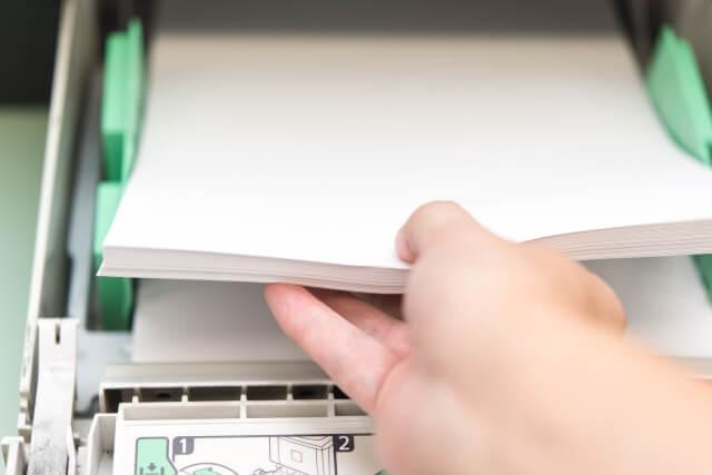 自動原稿送り装置付近で紙詰まり